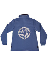 Lazy Jacks Lazy Jacks Button Neck Sweatshirt LJ5 - Compass