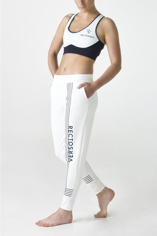 Linea White sports bra