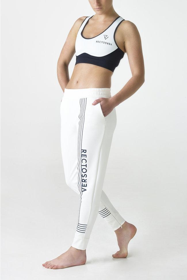 Linea White Track Pants