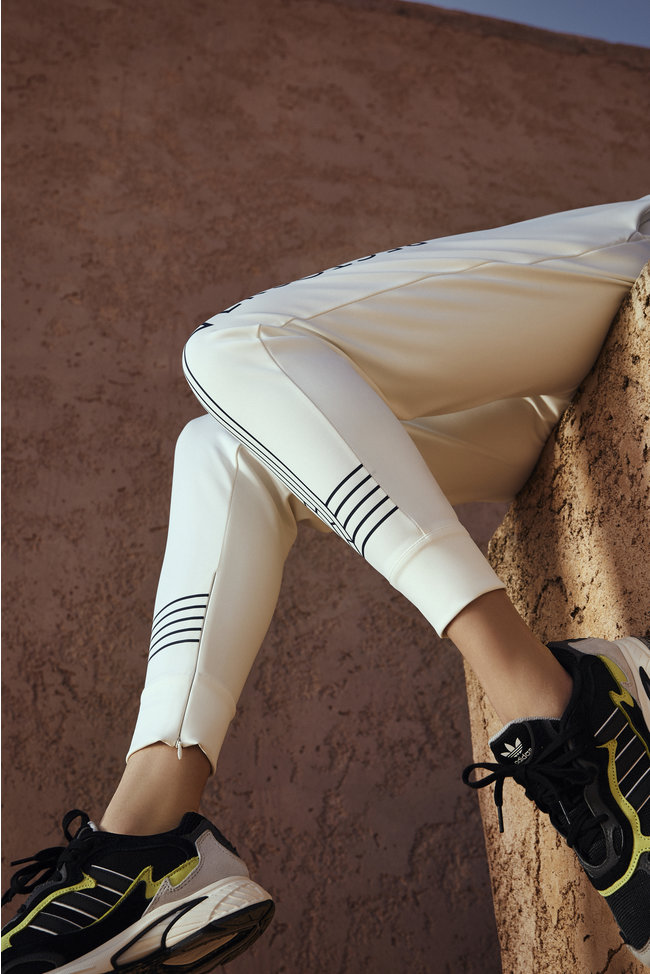 Linea White Track Pants