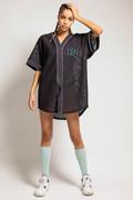 RECTO VERSO Chemise Neon Baseball Jersey