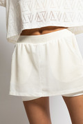 RECTO VERSO Creamy Tennis Skirt