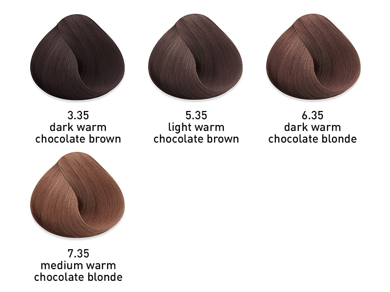 muk hybrid cream hair color warm chocolate