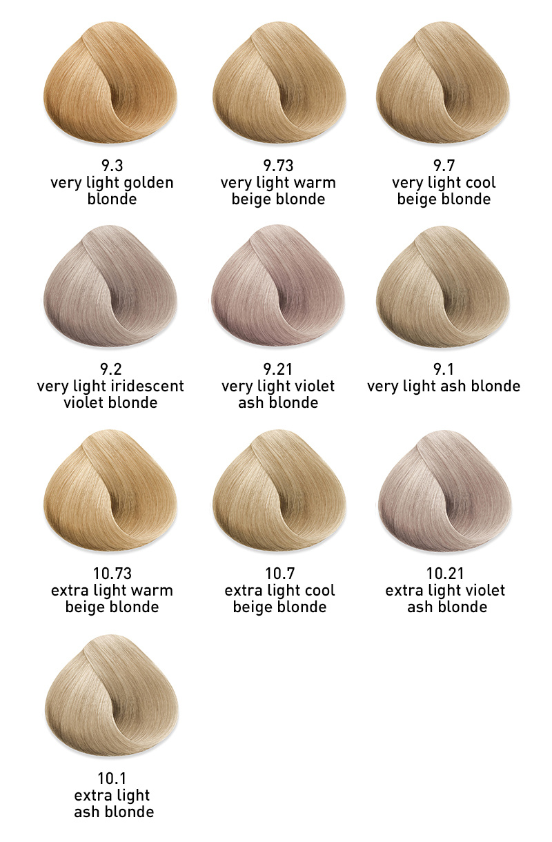 muk hybrid cream hair colour blonde toners 9 &10