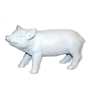 Polydeco Polystone varken klein wit