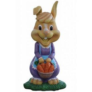 Polydeco Polyester konijn met mandje friskee