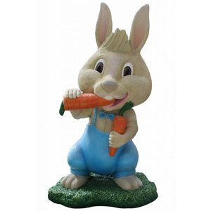 Polydeco Polyester konijn met wortel Jumpee