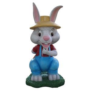 Polydeco Polyester konijn hoppie
