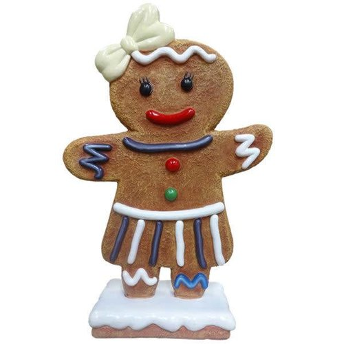 Polydeco Polyester gingerbread dochter