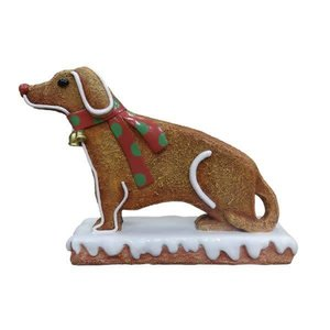 Polydeco Polyester gingerbread hond