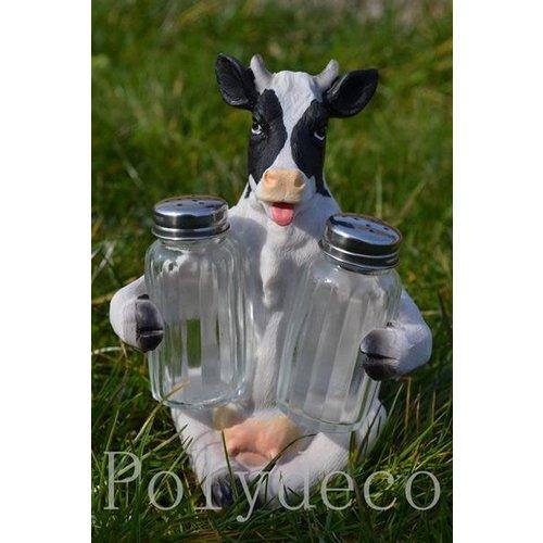 Polydeco Polystone peper-en zoutstel koe zittend
