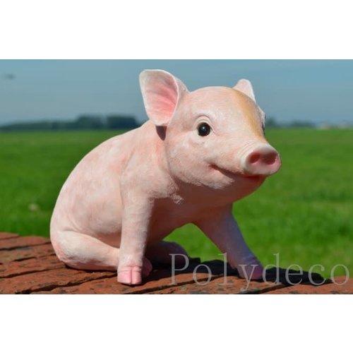 Polydeco Polystone zittend varken biggetje