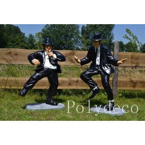 Polydeco Polyester Blues brothers dansend