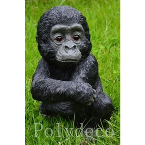 Polydeco Polystone baby gorilla zittend