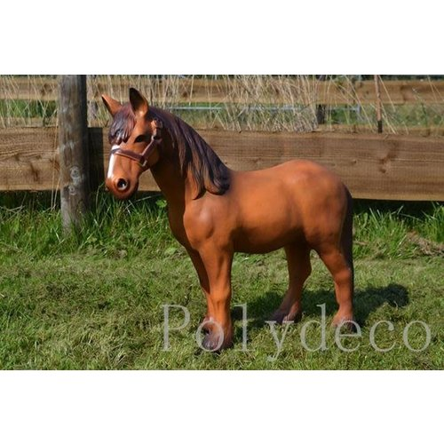 Polydeco Polyester bruin paard