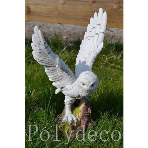 Polydeco Polystone witte uil staand