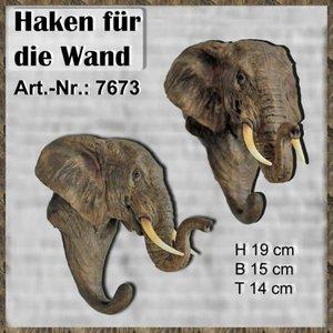 Polystone olifanten kop haak
