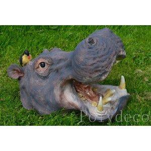 Polydeco Polystone nijlpaard kop klein