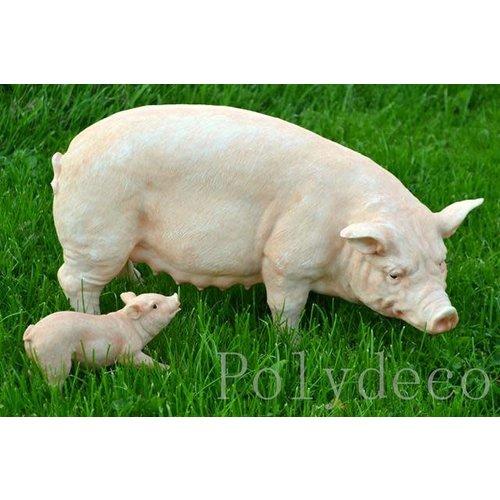 Polydeco Polystone varken met jong