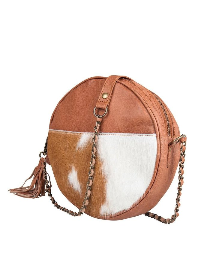 Circle Bag Cow Camel Met Mooi Kettinghengsel
