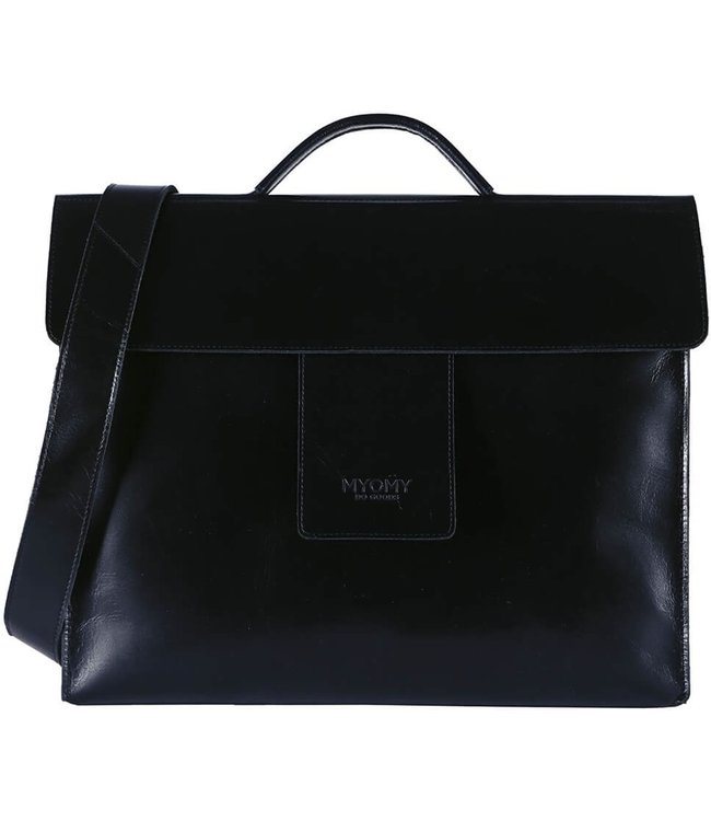 MYOMY MY HOME BAG Business bag Hunter Waxy Black