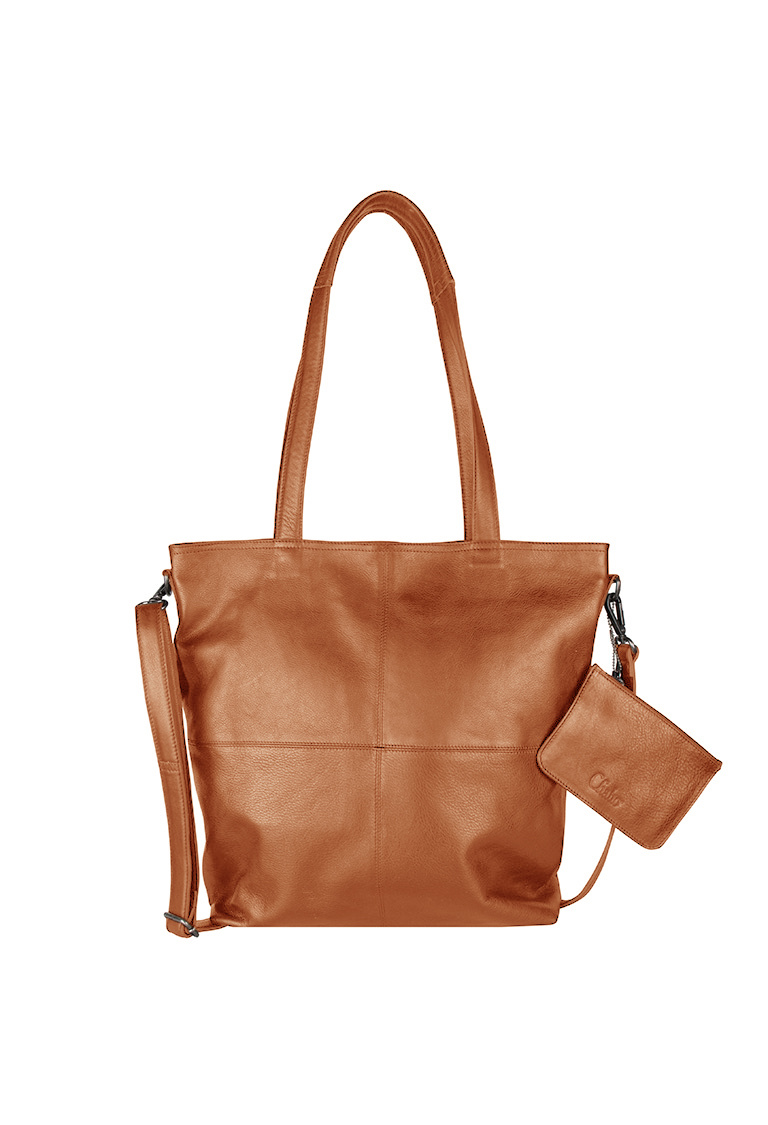Chabo Bags Street OX Kate Shopper 14 inch Laptop Camel