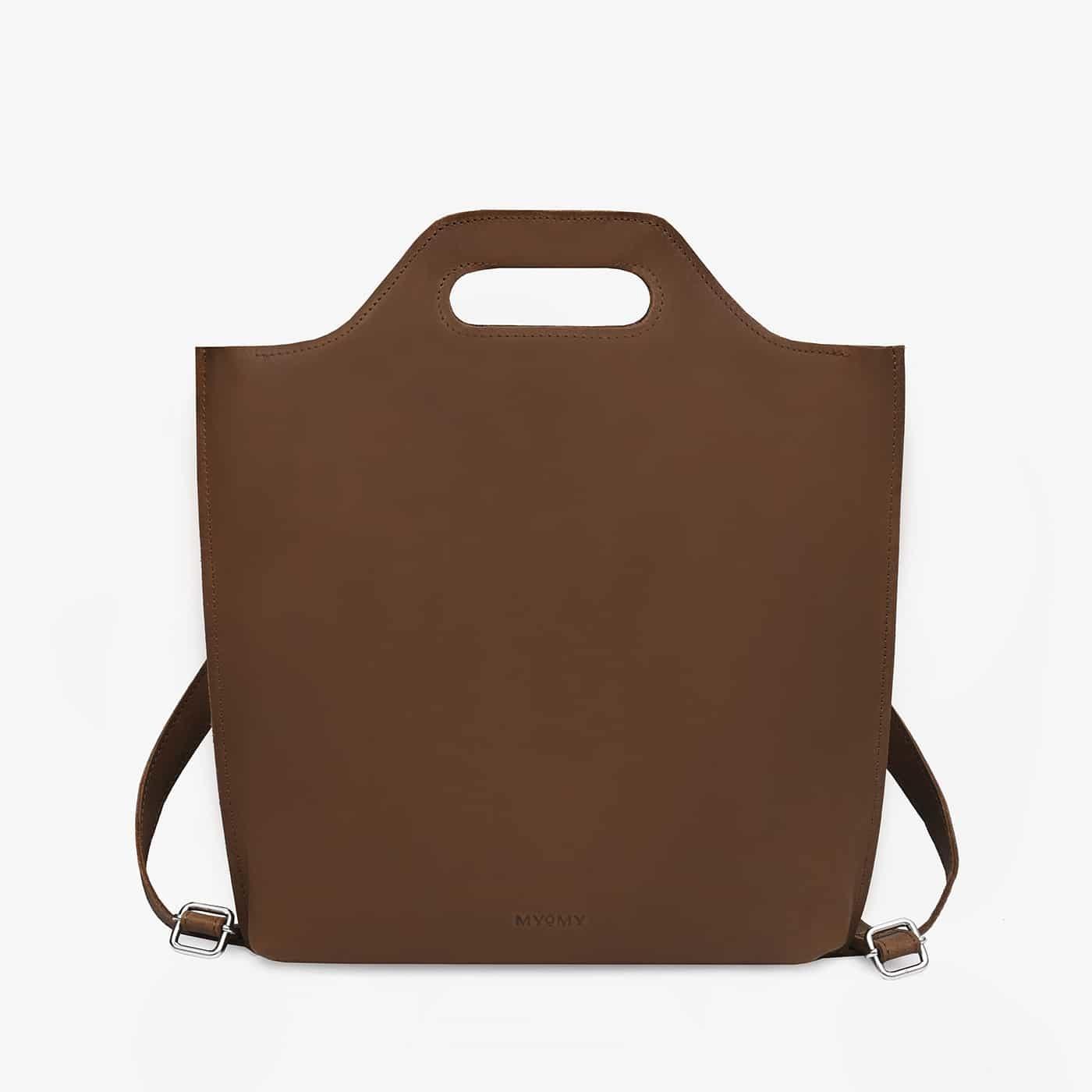 MYoMY MCB Backbag 12 Inch Hunter Mid Brown
