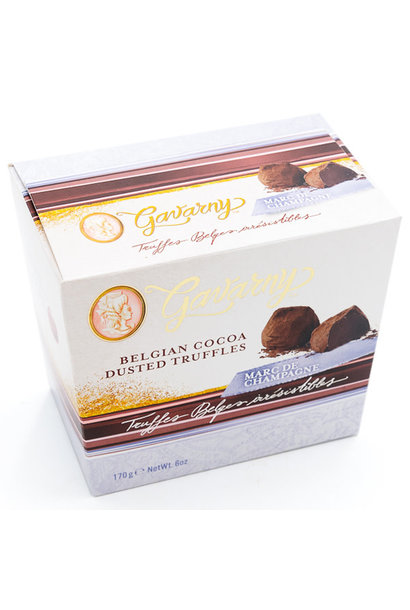 Belgian cocoa dusted truffles (champagne)