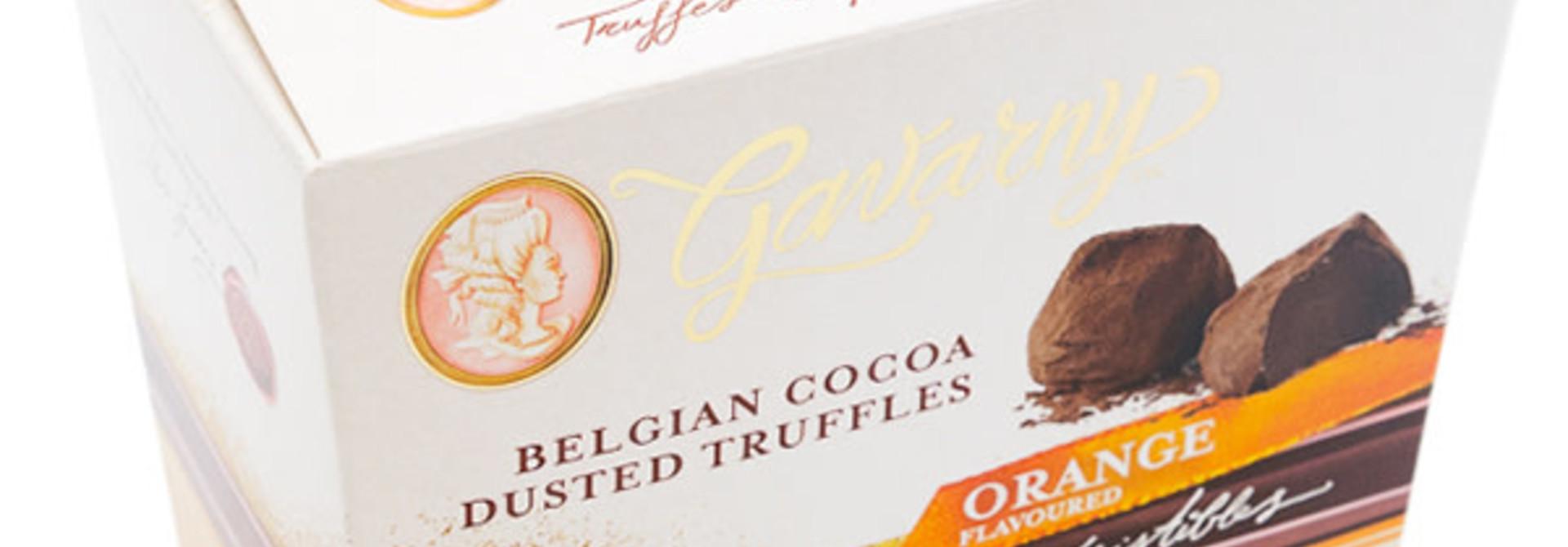 Belgian cocoa dusted truffles (orange)