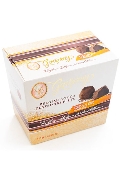 Belgian cocoa dusted truffles (orange)