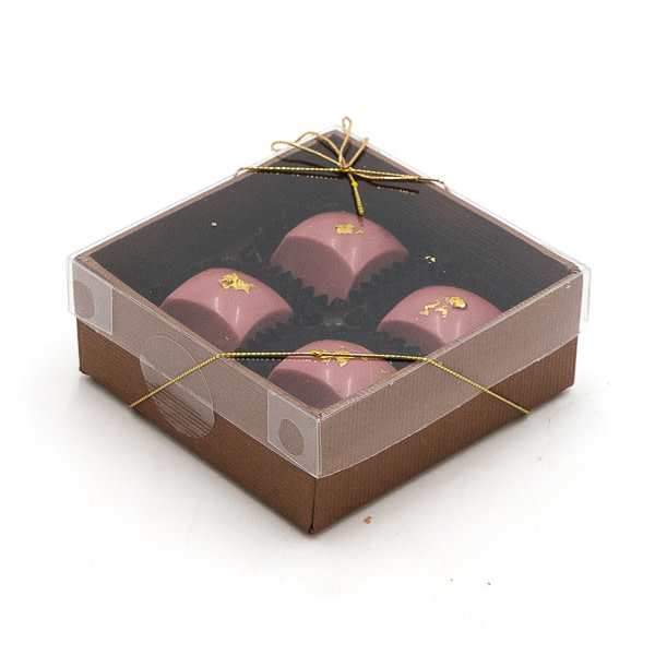 Box of 4 pralines (ruby)-2