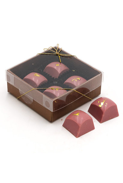 Box of 4 pralines (ruby)
