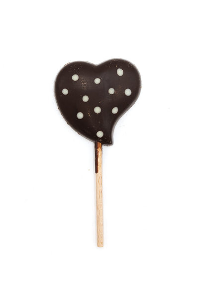 Small heart lollipop (dark)