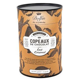 Dolfin Flakes box 350g milk with caramel