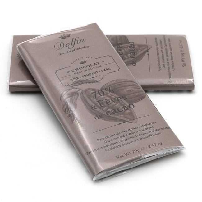 Dolfin 70% with cocoa beans