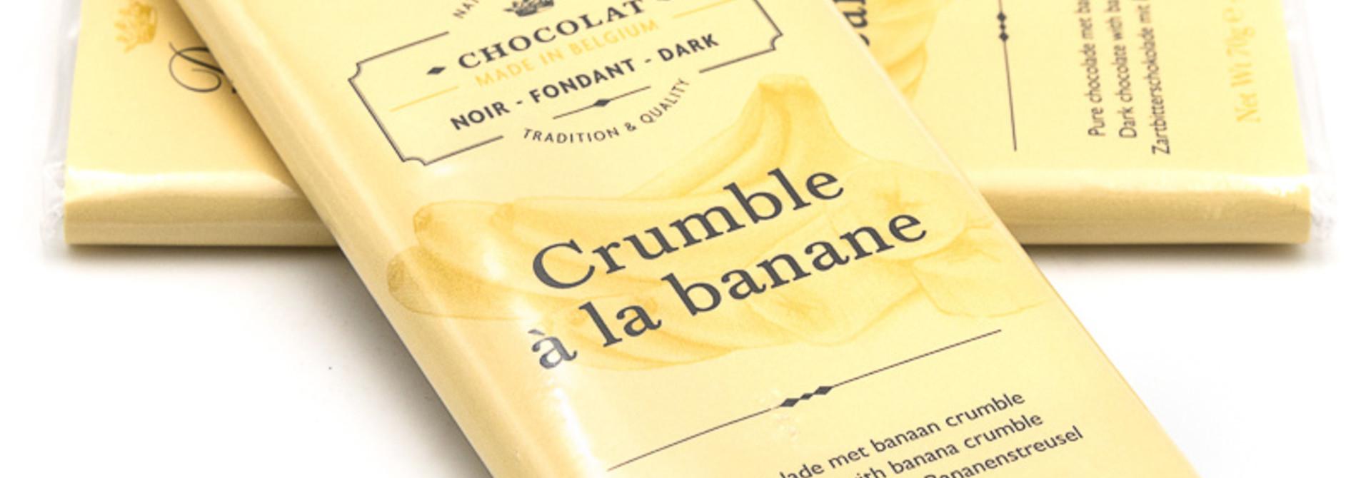 Dolfin dark chocolate 70% (banana crumble)