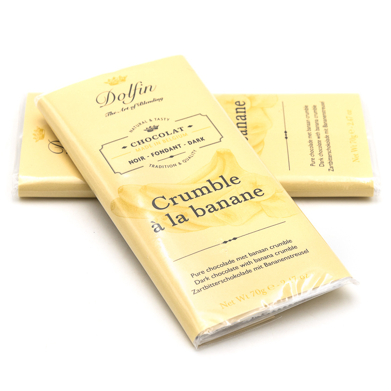 Dolfin dark chocolate 70% (banana crumble)-1