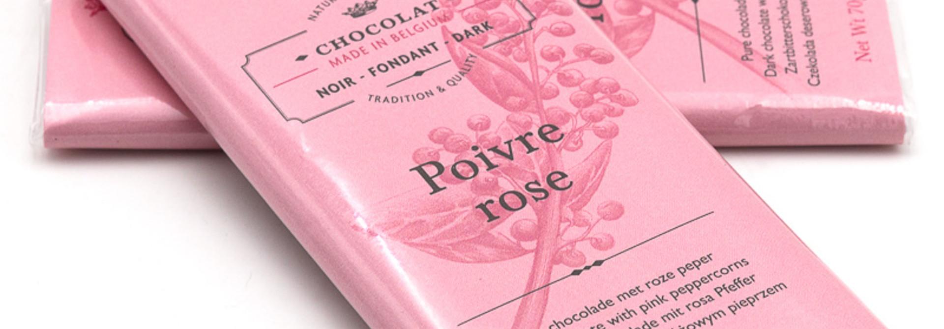 Dolfin dark chocolate 70% (pink peppercorns)