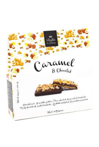 Box 200g dark chocolate (roasted hazelnuts)