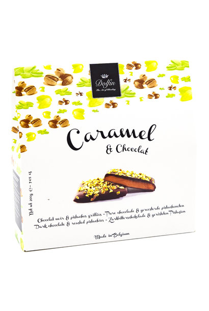 Box 200g dark chocolate (roasted pistachios)