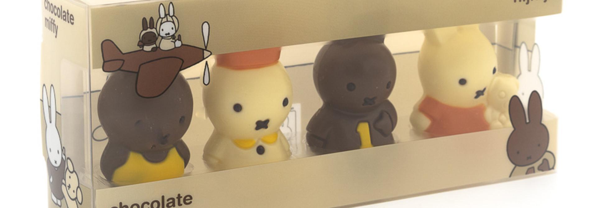 4 mini Miffy figurines
