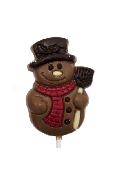 Lollipop snowman (milk)