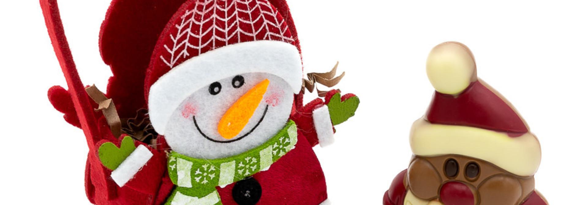Hippy Santa Claus in bag