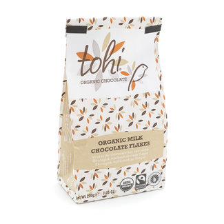 Tohi Flakes bag 200g milk 38% cocoa