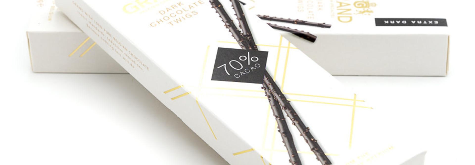 Dark chocolate twigs (extra dark)
