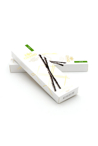 Dark chocolate twigs (mint)
