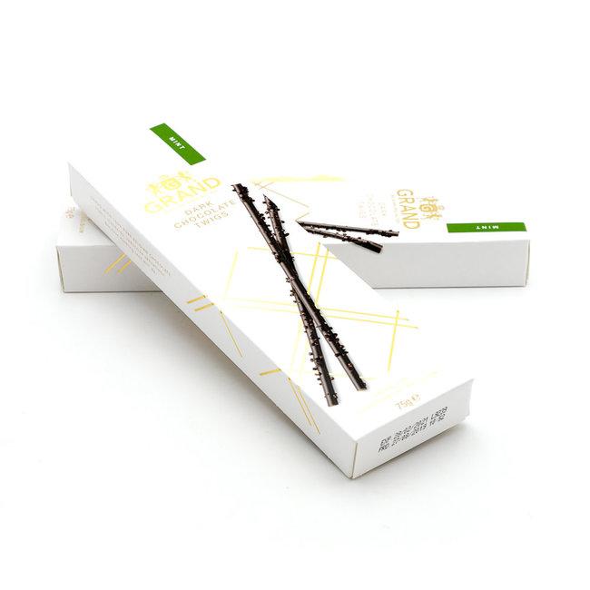 Grand Dark chocolate twigs (mint)