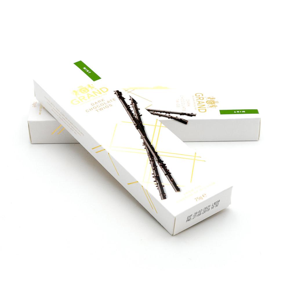 Dark chocolate twigs (mint)-1