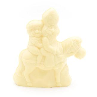 Chocomeli Saint Nicholas with horse  (white)