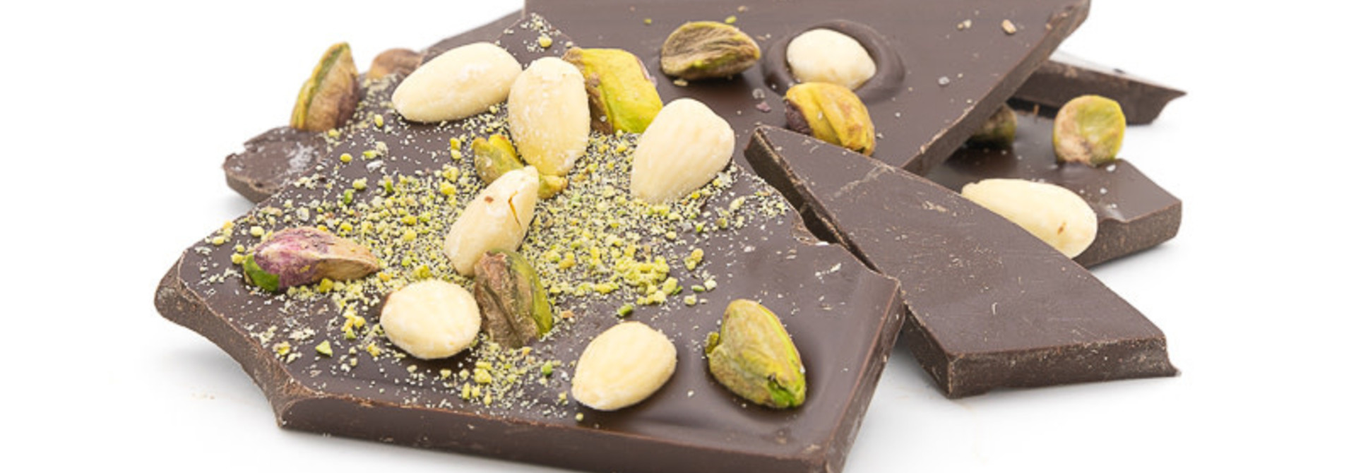 Dark with salted pistachios and almonds
